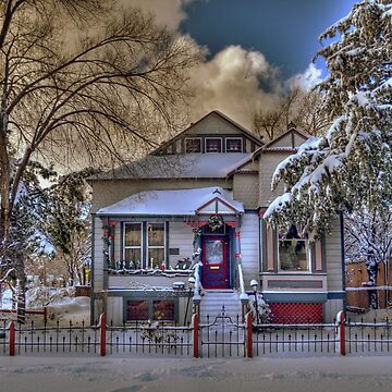 The Decorated Little House in The Snow by DianaG