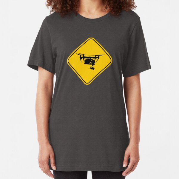 Drone Sign Slim Fit T-Shirt