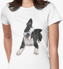 Boston head tilt Women's Fitted T-Shirt