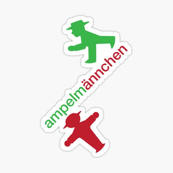 ampelmännchen Sticker