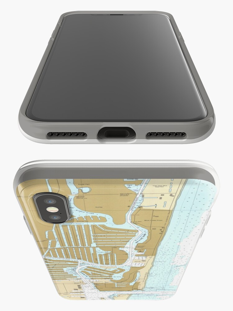 Alternate view of Map of Fort Lauderdale FL (1991) iPhone Case & Cover