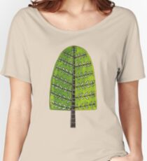 Tree Green Popsicle/Ice-Lolly Shape Women's Relaxed Fit T-Shirt
