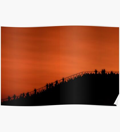Big Red Sunset Poster