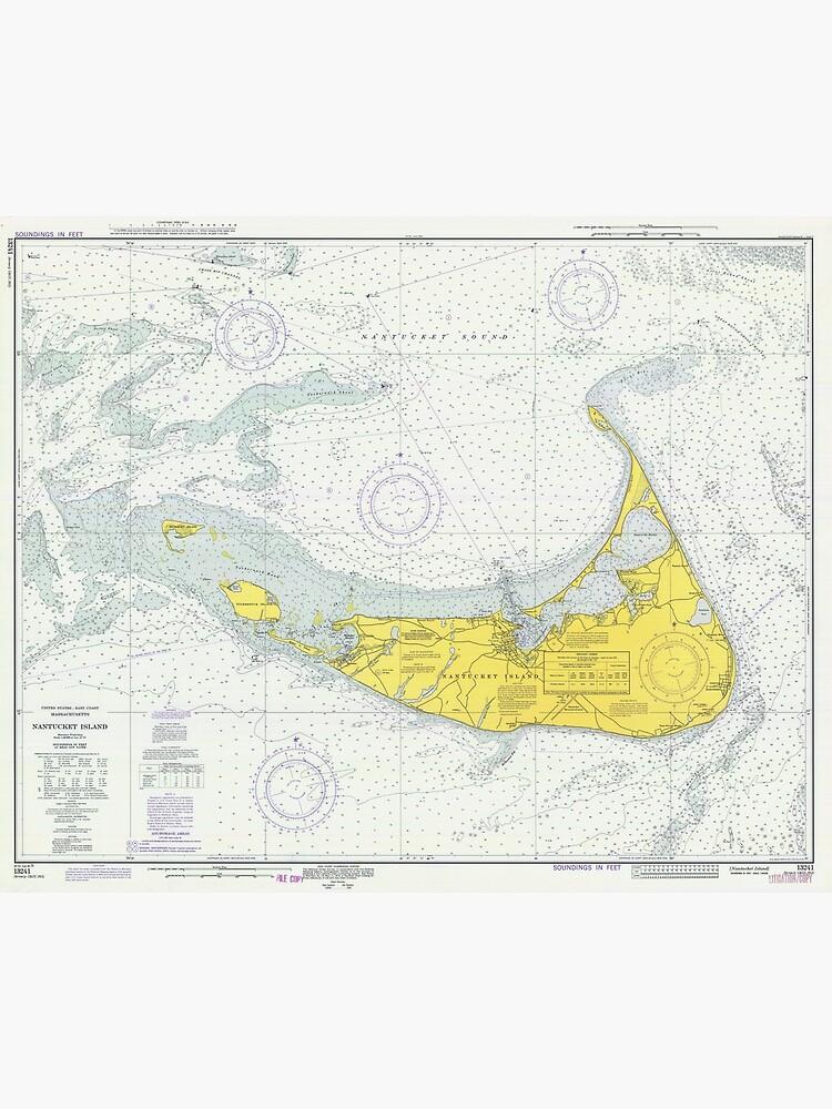 Vintage Map of Nantucket (1975) by BravuraMedia