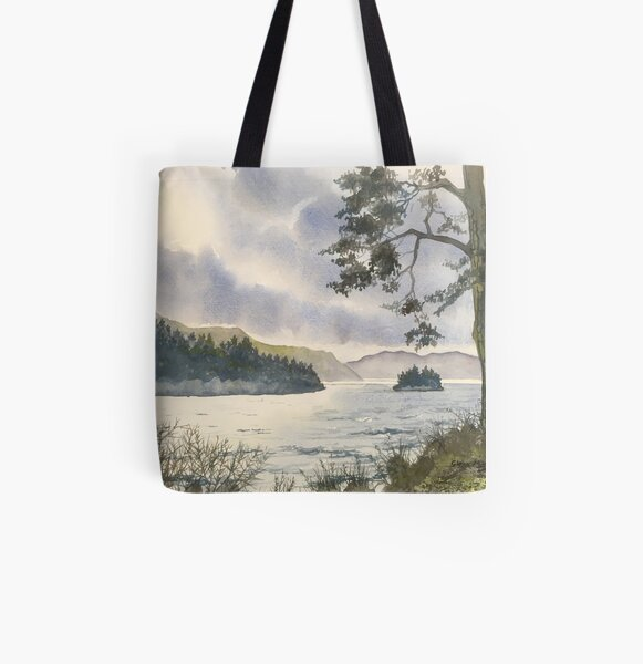 Evening on Derwentwater All Over Print Tote Bag