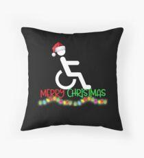 Funny Wheelchair Christmas Shirt Throw Pillow