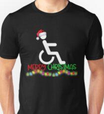 Funny Wheelchair Christmas Shirt Unisex T-Shirt