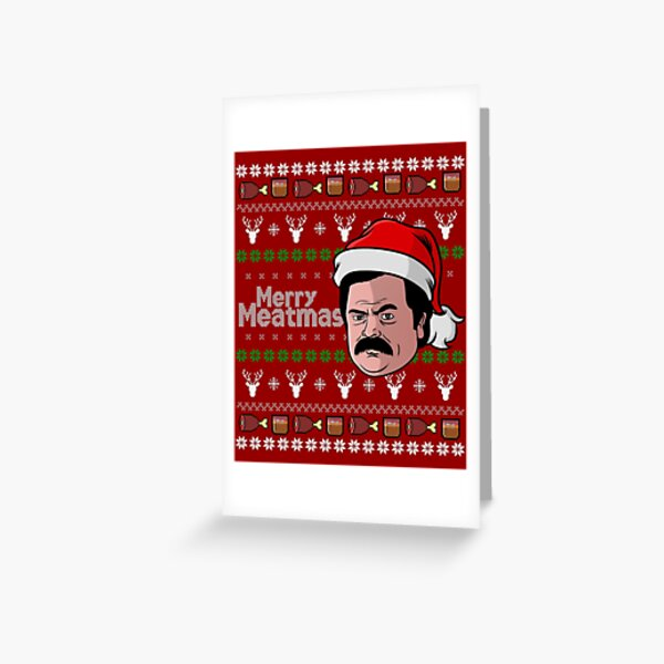 Its the Swanson Meatmas spectacular Greeting Card