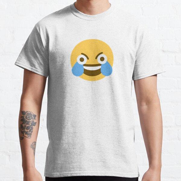 Emoji riant aux yeux ouverts T-shirt classique