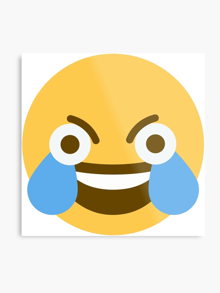 Open eye crying laughing Emoji | Metal Print