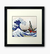 Legend of Zelda Great Wave Windwaker Framed Print