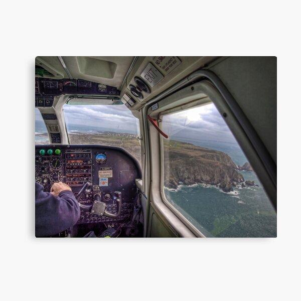 Long Final with a crosswind - Alderney Canvas Print