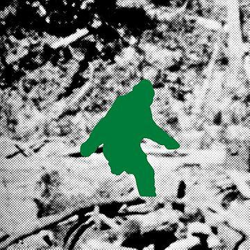 Bigfoot (Green) by tierneyart