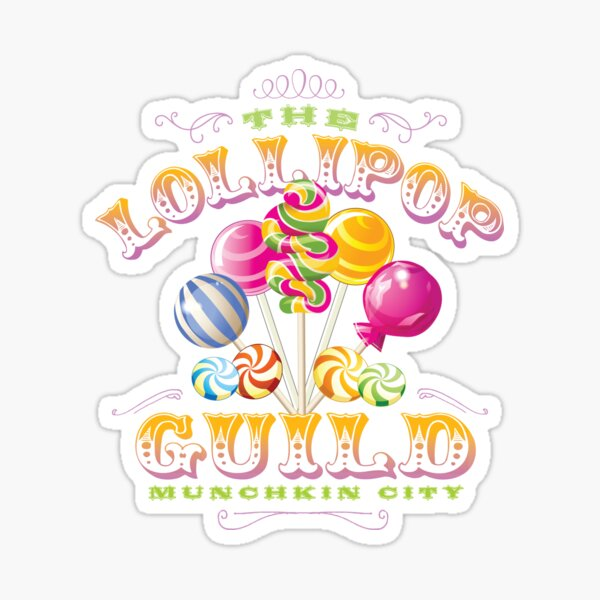 The Lollipop Guild Sticker By Mindspark1 Redbubble Three munchkins represent the lollipop guild from the wizard of oz. redbubble