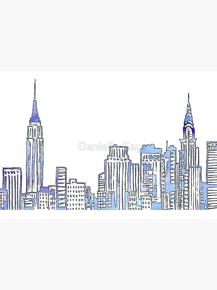 NYC Skyline by doodlesbydani