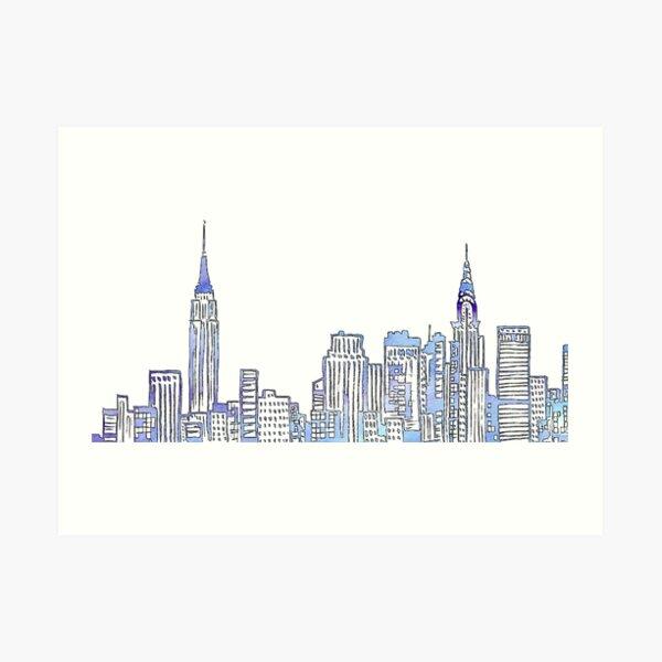 Skyline de New York Impression artistique