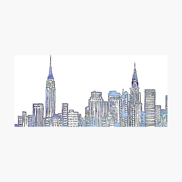 NYC Skyline Lámina fotográfica
