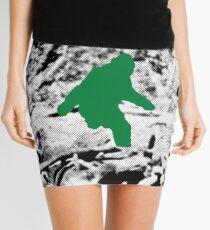 Bigfoot (Green) Mini Skirt