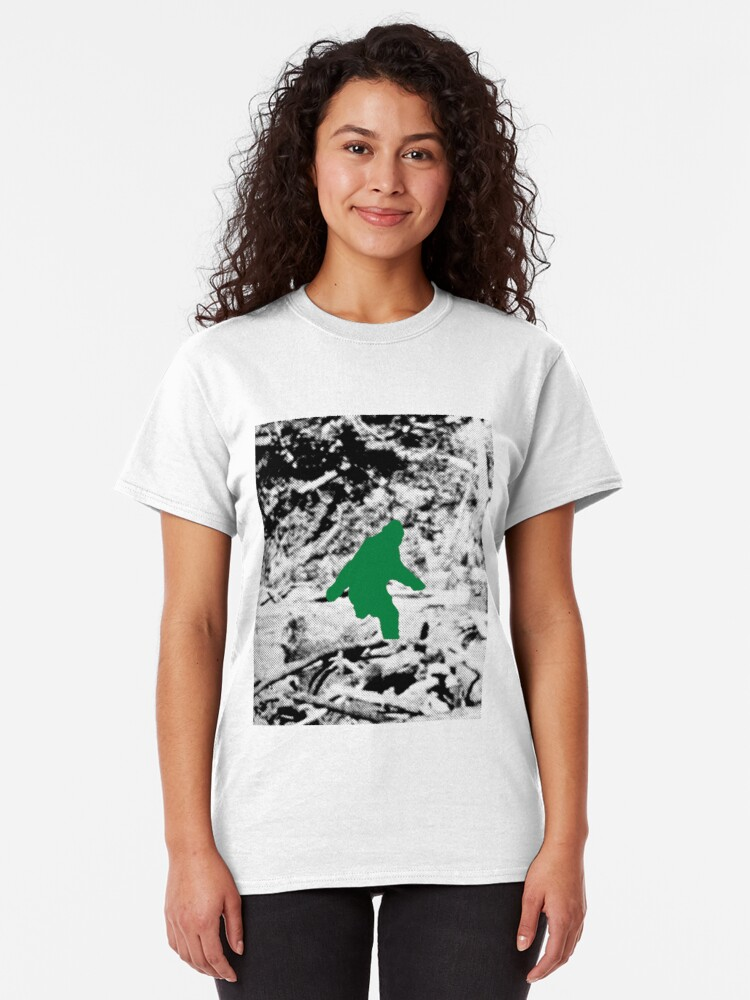 Alternate view of Bigfoot (Green) Classic T-Shirt