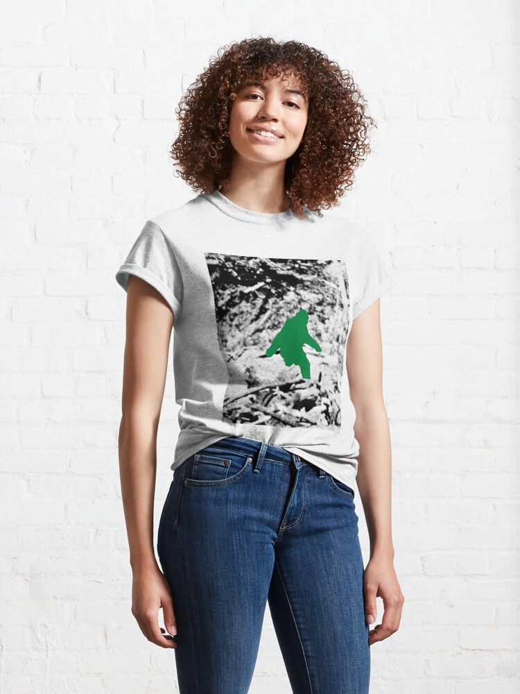 Alternate view of Bigfoot (Green) Classic T-Shirt