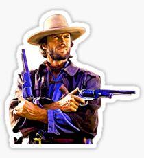 Clint Eastwood Art Sticker