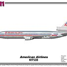 McDonnell Douglas MD-11 - American Airlines (Art Print) by TheArtofFlying