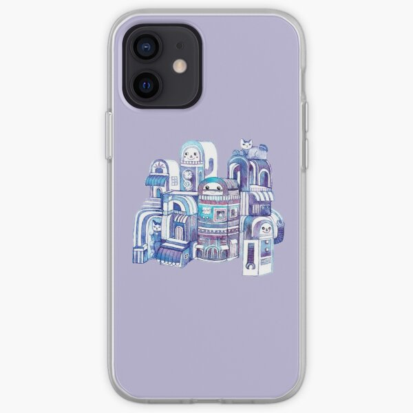 Cats in Robot Town iPhone Soft Case