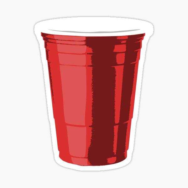 Gigantic Red Plastic Cup Sticker
