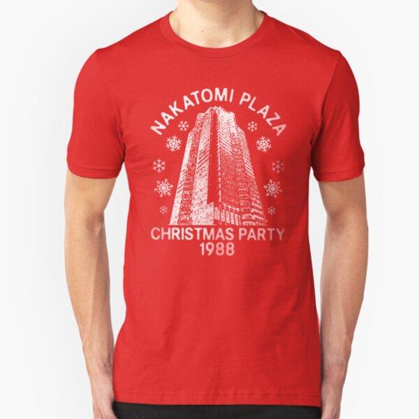 Nakatomi Weihnachten Slim Fit T-Shirt
