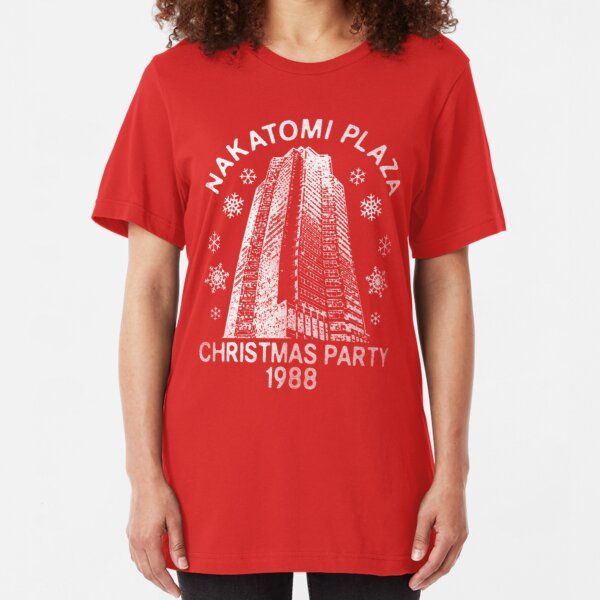 Nakatomi Christmas Slim Fit T-Shirt