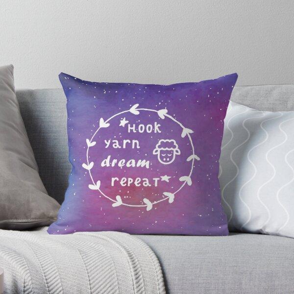 *Hook, yarn, dream, repeat*  Throw Pillow