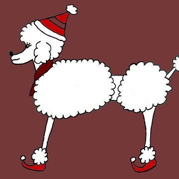 Christmas Poodle dog by ritmoboxers