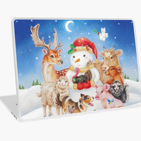 20 Christmas animals by Maria Tiqwah Laptop Skin