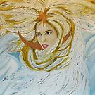 The Princess-Swan from the Russian fairytale (oil painting). by MariaSibireva