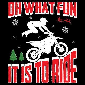 Ugly Christmas Dirt Bike Motocross Xmas Sweater Shirts by Joeby26