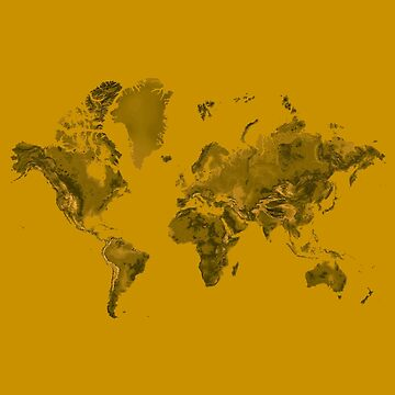 Nugget Gold World Map Artwork by Map-Your-World