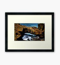 Natural Bridge HDR Framed Print