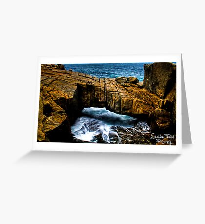 Natural Bridge HDR Greeting Card