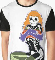 Pumpkin Pin Up Queen Graphic T-Shirt