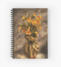 Daffodils in a Burlap Vase Spiral Notebook