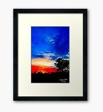 Karijini Sunrise Framed Print