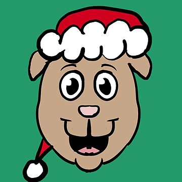 Xmas Puppy Head by Rajee