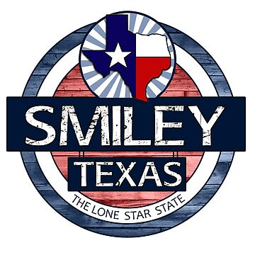 Smiley Texas rustic wood circle by artisticattitud