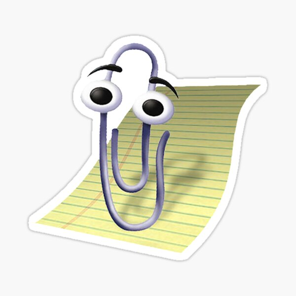 Microsoft Clippy Office Assistant Sticker
