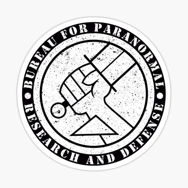 Bureau for Paranormal Research and Defense Sticker