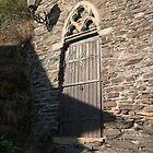 Ancient Wooden Door by Sue Martin