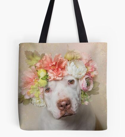 Flower Power, Creasy Tote Bag