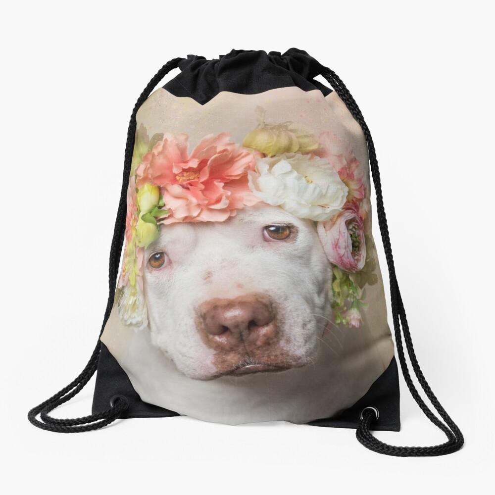 Flower Power, Creasy Drawstring Bag