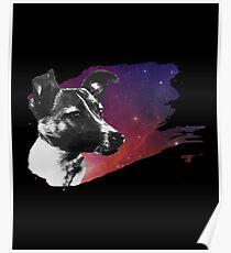 Russe Laika der Weltraumhund Poster