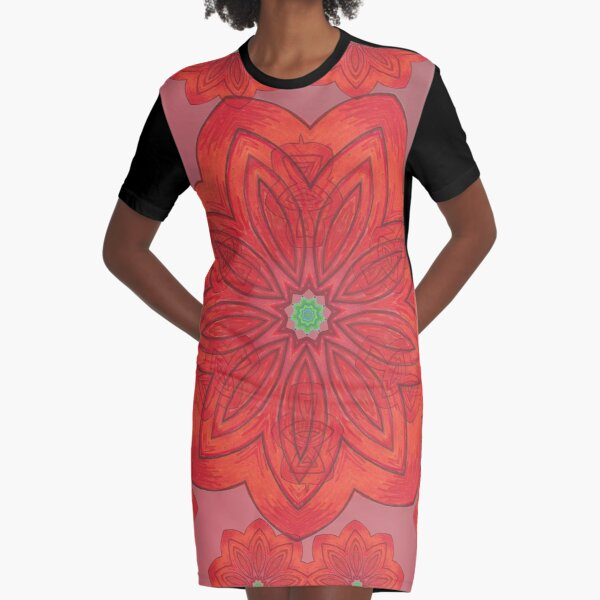 Pumpkin and Spice Happy Fall Into Winter Design Three Graphic T-Shirt Dress